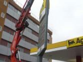 Campaña cambio imagen corporativa de estaciones de servicio de Agip a Galp 2009